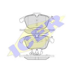 Колодки тормозные дисковые, комплект (Icer) 181775