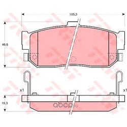 Комплект тормозных колодок, дисковый тормоз (TRW/Lucas) GDB3181