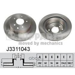 Тормозной диск (Nipparts) J3311043