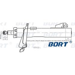 Стойка амортизационная газомасляная передняя левая (BORT) G22252005L