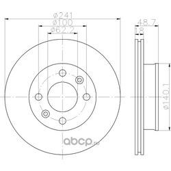 Тормозной диск (Textar) 92147103