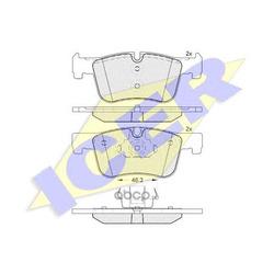 Комплект тормозных колодок, дисковый тормоз (Icer) 182048