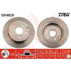 Тормозной диск (TRW/Lucas) DF4829