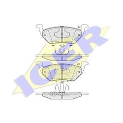 Комплект тормозных колодок, дисковый тормоз (Icer) 182031