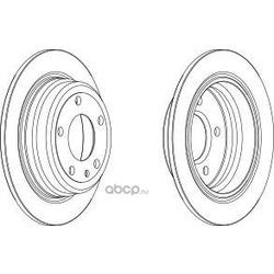 Диск тормозной передний вентилируемый (Ferodo) DDF1201