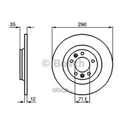 Тормозной диск (Bosch) 0986479194