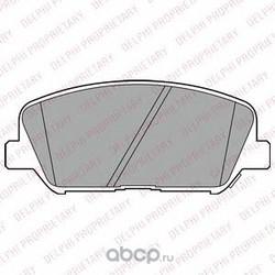 Комплект тормозных колодок (Delphi) LP2477