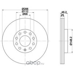 Тормозной диск (Mintex) MDC768