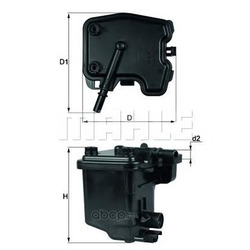 Топливный фильтр (Mahle/Knecht) KL431D