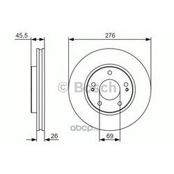Тормозной диск (Bosch) 0986479S00