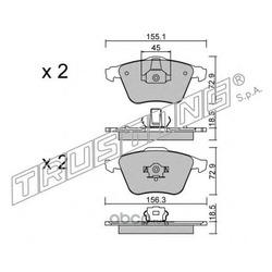 Комплект тормозных колодок, дисковый тормоз (Trusting) 5653