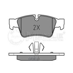Комплект тормозных колодок, дисковый тормоз (Meyle) 0252392318