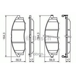 Комплект тормозных колодок, дисковый тормоз (Bosch) 0986494152