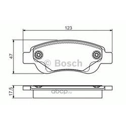 Комплект тормозных колодок (Bosch) 0986495085