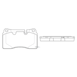 Колодки тормозные дисковые (FIT) FP1263