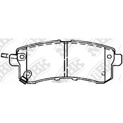 Колодки тормозные дисковые (NiBK) PN0554