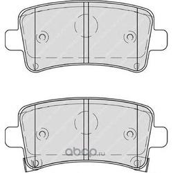 Комплект тормозных колодок, дисковый тормоз (Ferodo) FDB4209