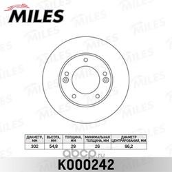 Диск тормозной KIA SORENTO (JC) 2.4-3.5 02- передний вент. (Miles) K000242