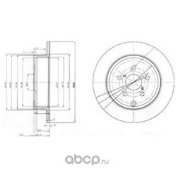 Тормозной диск (Delphi) BG3912