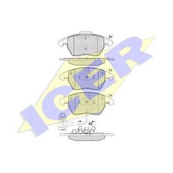 Комплект тормозных колодок, дисковый тормоз (Icer) 181567