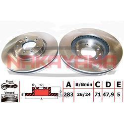 Тормозной диск (NAKAYAMA) Q4463