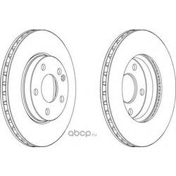Тормозной диск (Ferodo) DDF1220