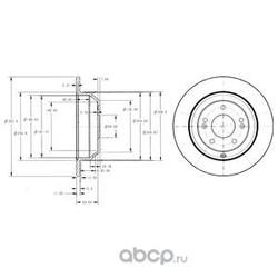 Тормозной диск (Delphi) BG4335