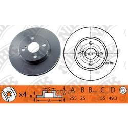 Диск тормозной передний (NiBK) RN1198