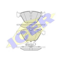 Колодки тормозные дисковые, комплект (Icer) 181940