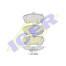 ICER Колодки тормозные передние (Icer) 181821
