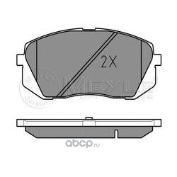 Комплект тормозных колодок, дисковый тормоз (Meyle) 0252450116W