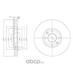 Тормозной диск (Delphi) BG3622