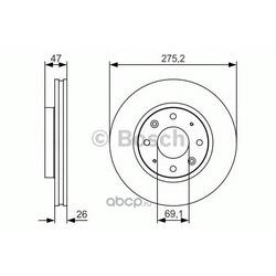 Тормозной диск (Bosch) 0986479S28