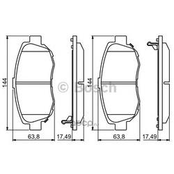 Комплект тормозных колодок, дисковый тормоз (Bosch) 0986494211