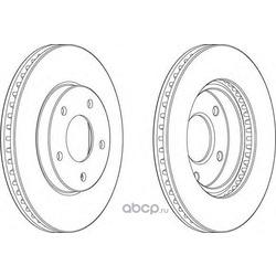 Тормозной диск (Ferodo) DDF1599