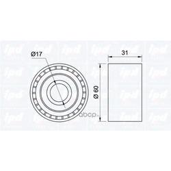 Паразитный / ведущий ролик, поликлиновой ремень (ipd) 150966