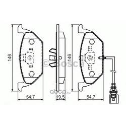 Комплект тормозных колодок (Bosch) 0986494525