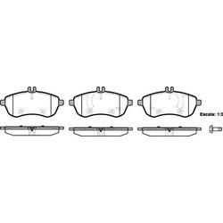 Комплект тормозных колодок, дисковый тормоз (Remsa) 130100