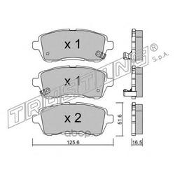 Комплект тормозных колодок, дисковый тормоз (Trusting) 8091