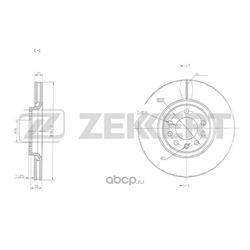 Диск.торм.перед. (Zekkert) BS5294
