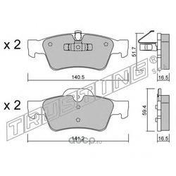 Комплект тормозных колодок, дисковый тормоз (Trusting) 5841