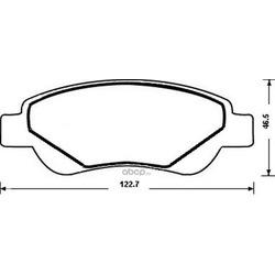 Комплект тормозных колодок (Jurid) 573135J