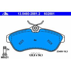 Комплект тормозных колодок, дисковый тормоз (Ate) 13046028812