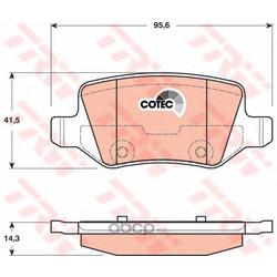 """Колодки тормозные дисковые, комплект """"COTEC (TRW/Lucas) GDB1481"""