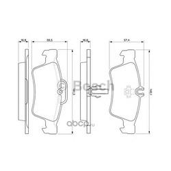 Колодки тормозные дисковые, комплект (Bosch) 0986424699