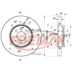 Тормозной диск (FREMAX) BD7829
