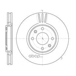 Тормозной диск (Remsa) 660410