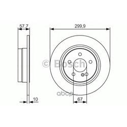 Тормозной диск (Bosch) 0986479S92
