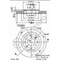 Тормозной диск (Brembo) 09869511