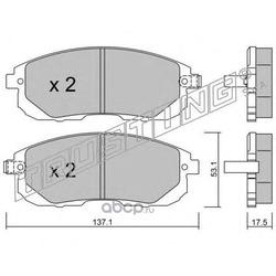 Комплект тормозных колодок, дисковый тормоз (Trusting) 8931